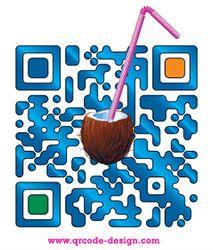 Coconut Water Witsenburg QR code design