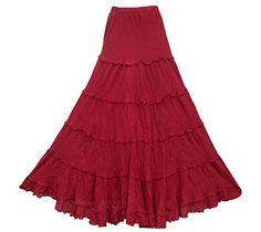 Bonya Women's Bohemian/Hippies Ruffle Maxi Long Skirt (Dark Red) Bonya Collections http://www.amazon.com/dp/B012T6XPX6/ref=cm_sw_r_pi_dp_eZppwb0JPC33V