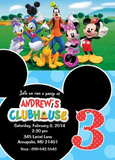 Mickey Mouse Clubhouse Birthday Party By PrettyPaperPixels On Etsy 799 Invitations