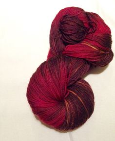 Chili Pepper fingering weight hand dyed sock by Tinsel Factory