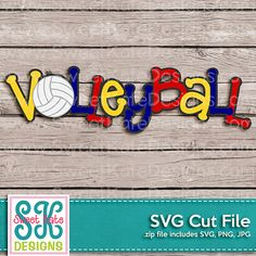 Volley-ball Cricut titre SVG JPG PNG album par SKDSweetKateDesigns