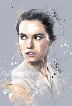 Women of Star Wars — akersdigitalart: Artwork of Rey ( Daisy Ridley...