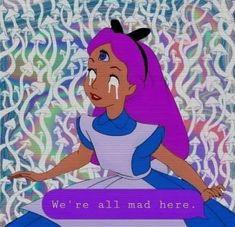 Trendy Wallpaper Quotes Disney Inspiration Alice In Wonderland Ideas Alice In Wonderland Paintings, Alice In Wonderland Aesthetic, Trippy Drawings, Cartoon Drawings, Art Drawings, Drawing Art, Chakras, Trippy Quotes, Trippy Cartoon