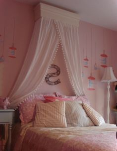 Girl room with pink walls