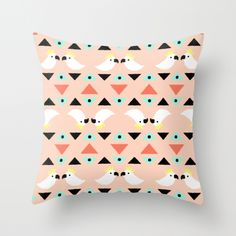 Cockatoo Geometric Throw Pillow