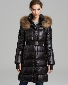 SAM. Jacket - Infinity Double Front Fur Trim  Bloomingdale's