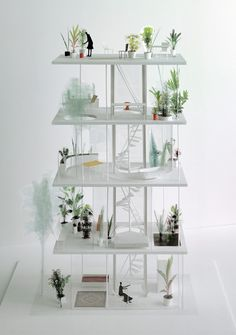Vertical garden house design by Ryue Nishizawa.  Click through to see the real thing!