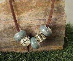 Bullet Casing Jewelry   Bullet Necklace  Aqua by ShellsNStuff, $19.99