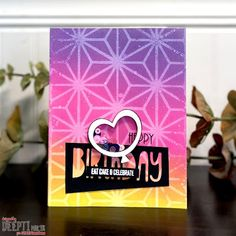 Balloon Frame, The Balloon, Birthday Wishes For Love, Birthday Cards, Foam Sheets, Birthday Month, Bubblegum Pink, Distress Ink, Paper Crafting