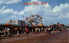Vintage Asbury Park boardwalk when there were rides there
