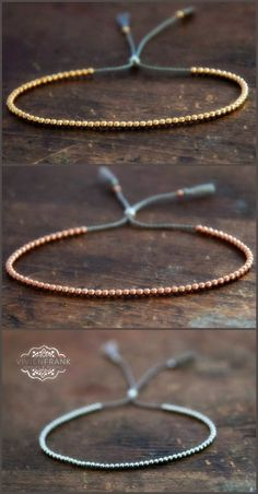 You Should Look For When Purchasing Jewelry Delicate solid Rose Gold beaded friendship bracelet. Yellow gold, rose gold, white gold by Vivien Frank DesignsDelicate solid Rose Gold beaded friendship bracelet. Yellow gold, rose gold, white gold by Vi Beaded Jewelry, Jewelry Bracelets, Handmade Jewelry, Gold Jewelry, Handmade Beads, Diy Beaded Bracelets, Embroidery Bracelets, Diy Friendship Bracelets With Beads, Handmade Bracelets