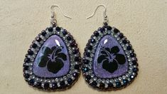 Beaded earrings with rhinestones and a wonderful cabochon made by the talented Tina Holden (Beadcomber Supplies). Made by Alexandra Reiner Etsy shop Chest of Beads Beaded Earrings, Drop Earrings, Etsy Shop, Beads, Rhinestones, Shopping, Beautiful, Jewelry, Fashion