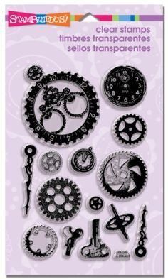 Stampendous Perfectly Clear Stamp, Steampunk Gears Image