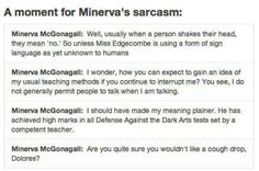 Oh Minerva McGonagall