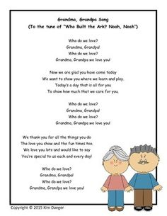 Grandparent's Day is such a special and memorable day at school. This song would be perfect for your little ones to sing to their grandparents!