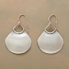 These sterling silver fan earrings are the perfect pair for everyday elegance.