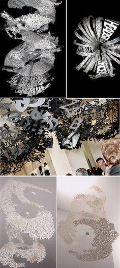 Typography Installation from Ebon Heath