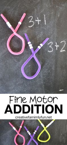 Exercise your fine motor skills while you practice your addition math facts with this fun bead threading fine motor addition activity. Addition Activities, Fine Motor Activities For Kids, Eyfs Activities, Motor Skills Activities, Math Addition, Dementia Activities, Gross Motor Skills, Addition Facts, Physical Activities