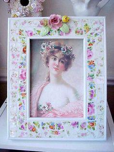 Mosaic Inlay Photo Frame by Enchanted Rose Studio, via Flickr
