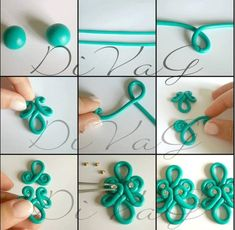Picture Tute only.  #Polymer #Clay #Tutorials by Anastasia Popova
