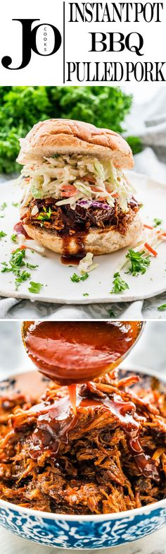Easy and quick Instant Pot BBQ Pulled Pork done in a fraction of the usual time. Juicy pork shoulder cooked in the most delicious BBQ sauce and loaded with tons of flavor. Perfect for a busy weeknight or your holiday entertaining.