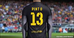La camiseta de arquero del Barcelona de Pinto