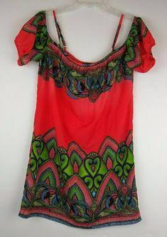 6e5ebbdc Womens GLAM Boutique Boho Cold Shoulder Small Dress Geometric Shift  Multicolor #GLAM #ShiftDress #