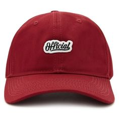 Forever21 Official Logo Patch Graphic Cap (135 RON) ❤ liked on Polyvore featuring accessories, hats, burgundy, forever 21, logo baseball hats, logo ball caps, logo hats and forever 21 hats