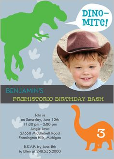 Dino-Mite Party 5x7 Stationery Card by Demby + Solomon | Shutterfly