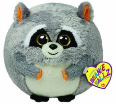 TY 7138039 - Mischief Ball XL Beanie Ballz, orsetto lavatore di peluche 12 cm, colore: Grigio: Amazon.it: Giochi e giocattoli