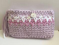 trapillo. zpagetti yarn clutch. handmade. bolso por myladiesandme