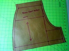 Tutorial to Create a Basic Shorts Pattern. Detailed measuring instructions.