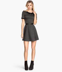 Dress with Collar - Dark grey | H&M US