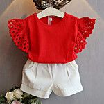 2020 Pretty Kids Baby Girl Summer Clothes Sets Lace Fly Sleeve T-Shirt+Shorts Child Girl Solid Outfits Cotton Tops Ropa de niña, Girls Summer Outfits, Toddler Girl Outfits, Summer Girls, Kids Girls, Baby Girls, Summer Clothes, Girls Fit, Baby Boy, Fashion Kids