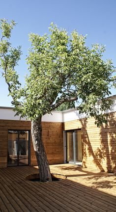 RD Trnava, Slovakia, by Archhilks Modern Courtyard, Modern Patio, Clean Patio, Contemporary Patio, Inside Outside, Exterior, Wabi Sabi, Architecture Design, Scenery