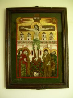 Romanian traditional icon on glass Ikon, Romania, Art History, Painting, Culture, Traditional, Glass, Decor, Art