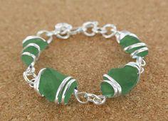 Sadie Green's Green Sea Glass Bracelet