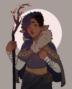 - Lau - Clem as a firbolg druid because of course I can't go without DnD for longer than a day He's your friendly hippie who. Fantasy Character Design, Character Creation, Character Design Inspiration, Character Concept, Character Art, Concept Art, Character Ideas, Dungeons And Dragons Characters, D D Characters
