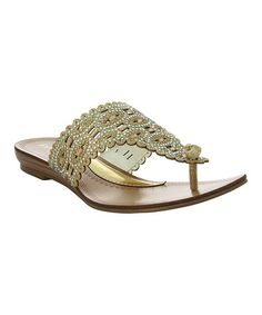 Look what I found on #zulily! Gold Sima Sandal #zulilyfinds