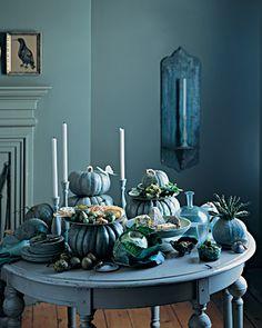 Pumpkin Centerpieces via Martha Stewart, so tasteful! #Halloween