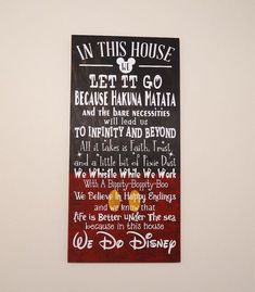 In This House We Do Disney Wooden Sign Disney Sign Shabby Chic Disney Quote Sign We Do Disney Home Decor Children's Room Decor Sign The post In This House We Do Disney Wooden Sign Disney Sign Shabby Chic Disney Quote Si appeared first on Children's Room.