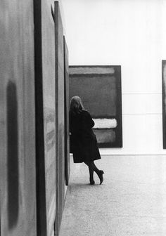 Photograph taken by Sandra Lousada at the first Rothko exhibition held in the UK at the Whitechapel Gallery , 1961.