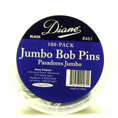 Diane Jumbo Pins 100 Count Black Tub ** To view further for this item, visit the image link.