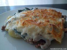 Receta de Pastel de espinacas con patatas