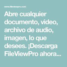 Abre cualquier documento, video, archivo de audio, imagen, lo que desees. ¡Descarga FileViewPro ahora para abrir tu archivo  de forma instantánea! ¡No necesita más software!