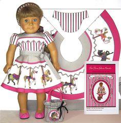 Carousel Dress and Bag Kit For American par TeaTimeFabricPanels