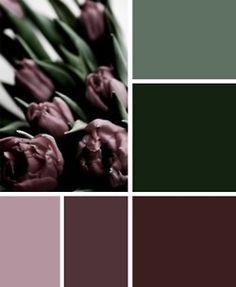 Green to purple.