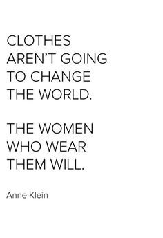 Anne Klein understood the potential for women to transform the world. United, we can evolve fashion as a force for good by making it more environmentally and socially responsible. Nerida x