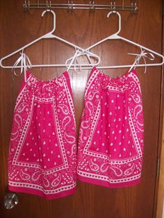 Bandana dresses for my granddaughters!!
