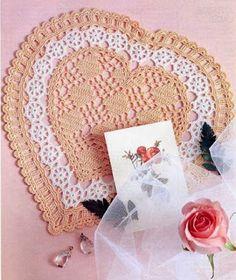 Lindo Coração Em Crochê Com Gráfico